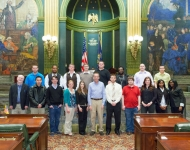 04/23/13 - Senator Gordner meets with Bloomsburg University students studying government.